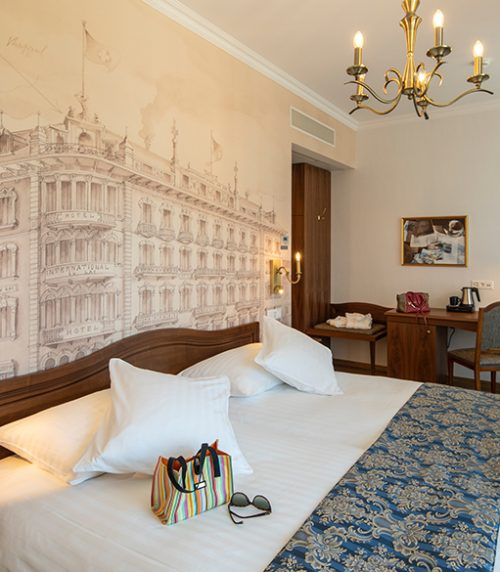 Romantic Double Room at International au Lac Historic Lakeside Hotel Lugano Best 3 Star Hotels