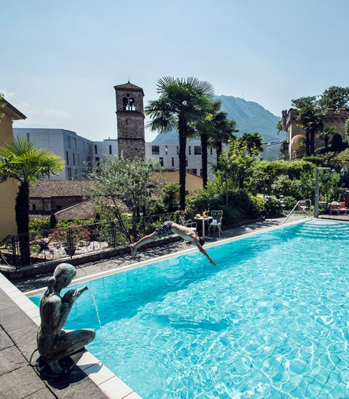 Piscine de l'International au Lac Historic Lakeside Hotel Lugano Best 3 Star Hotels